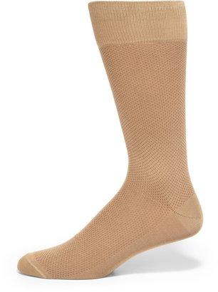 Saks Fifth Avenue Made In Italy Birdseye Cotton Dress Socks