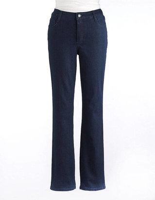 Jones New York Signature WOMENS Plus Studded Straight-Leg Denim Jeans