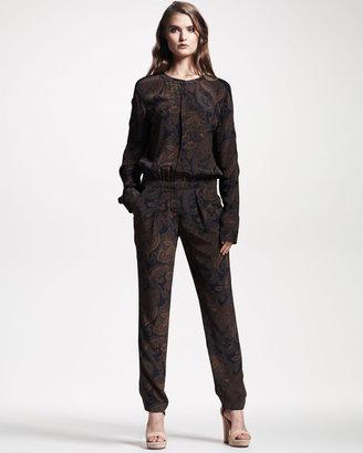 A.L.C. Maggie Paisley-Print Jumpsuit