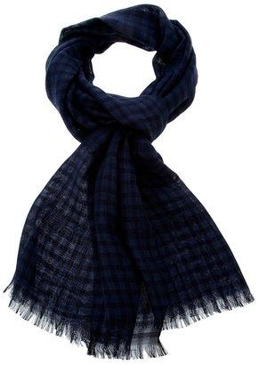 Ermenegildo Zegna checked print scarf