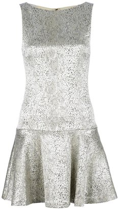 Alice + Olivia Alice+Olivia flared metallic dress