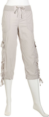 XCVI Cropped Cargo Pants, Lychee Seed
