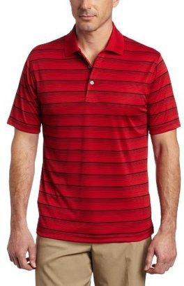 PGA TOUR Men's Short Sleeve Yarn Dyed Solarized Stripe Polo Shirt