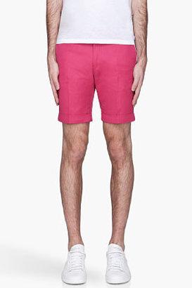Paul Smith Fuchsia pleated Shorts