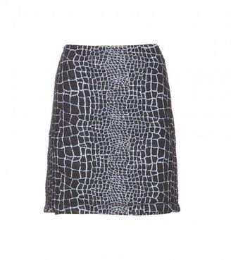 Kenzo Croc-effect jersey skirt