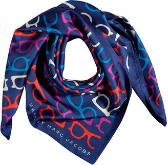Marc by Marc Jacobs Estate Blue Multicolor What a Spectacle Scarf