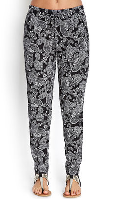 Forever 21 Paisley Daze Woven Joggers
