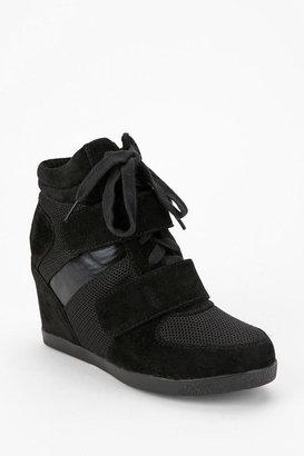 Wanted Tonal Suede High-Top Wedge-Sneaker