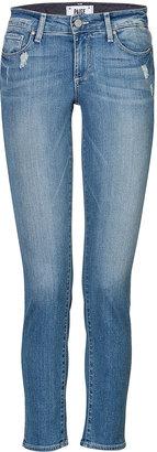 Paige Skyline Ankle Peg Distressed Skinny Jeans