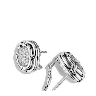 David Yurman Labyrinth Earrings with Diamonds