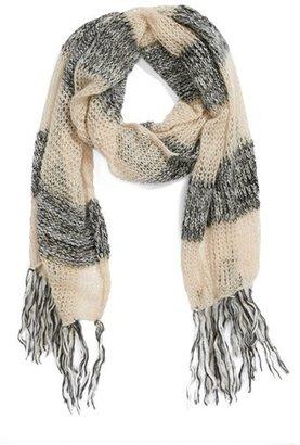 BP Open Knit Stripe Scarf (Juniors)