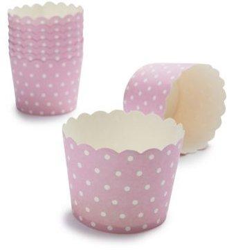 Sur La Table Paper Eskimo® Pink and White Dot Baking Cups, Set of 25
