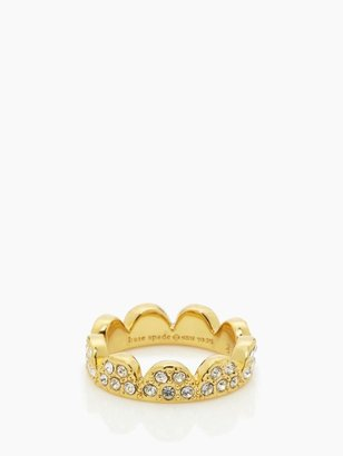 Kate Spade Scallop pave ring