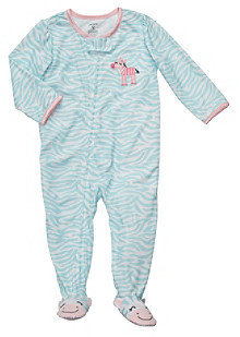 Carter's Girls' 12M-4T Blue Animal Print Footie Pajamas