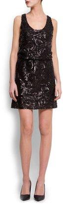 MANGO Sequined dress