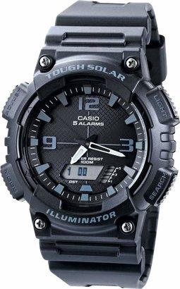 Casio Men's Black Resin Strap Solar Powered Digital Watch
