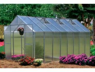 Riverstone Industries Riverstone Monticello Extruded Aluminum 8-Foot x 16-Foot Residential Greenhouse
