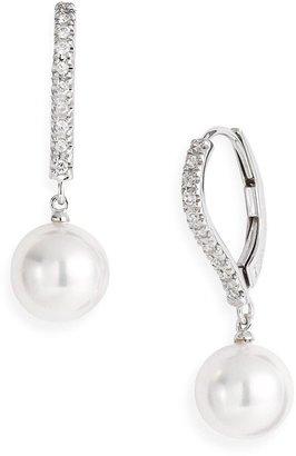 Mikimoto Diamond & Akoya Cultured Pearl Earrings