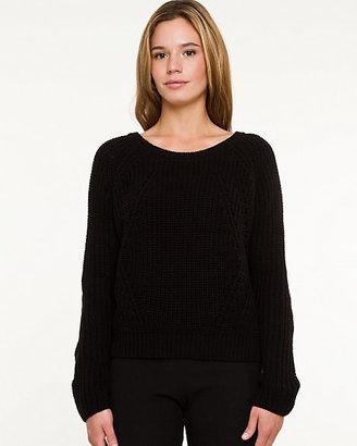 Le Château Cotton Blend Ribbed Crop Sweater