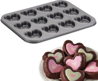 Cake boss TM specialty 12-cup nonstick molded heart cookie pan