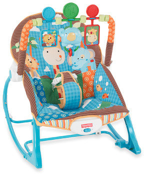 Fisher-Price Blue Animals Infant to Toddler Rocker