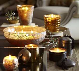 Pottery Barn Boutique Hammered Metal Scented Candle Pots