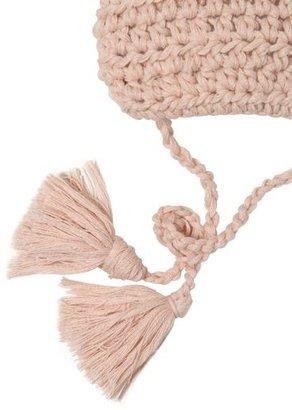 Merinos Wool Lace & Lapin Fur Bonnet