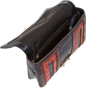 Anya Hindmarch Ebenezer Small metallic textured-leather shoulder bag