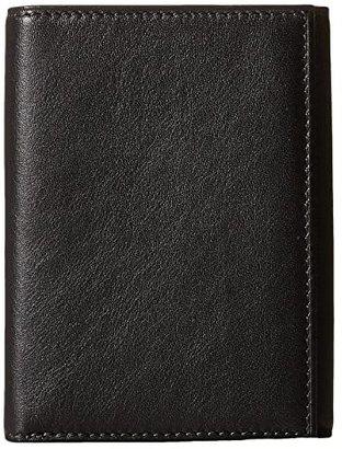 Bosca Nappa Vitello Collection - Trifold Wallet (Black Leather) Bill-fold Wallet