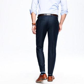 Ludlow classic suit pant in glen plaid Italian wool flannel