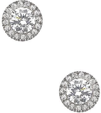 Swarovski J Weber Clear Crystal Sparkler Stud Earrings