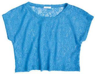 Delia's Quinn Neon Crochet Short Sleeve