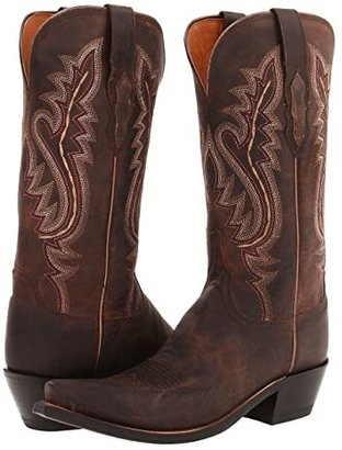 Lucchese M5002 (Chocolate Madras Goat) Cowboy Boots