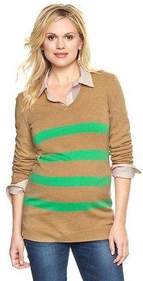 Gap Eversoft striped V-neck sweater