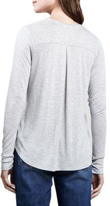 Vince Long-Sleeve Slub Top