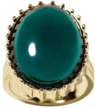 Banana Republic Teal stone oval cocktail ring