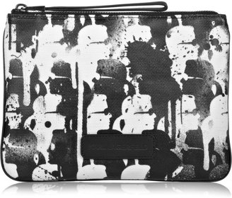 Karl Lagerfeld Krumple camo-print coated-canvas pouch