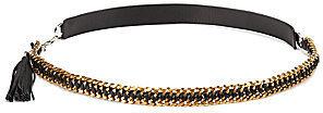 Diane von Furstenberg Tahra Leather & Chain Belt