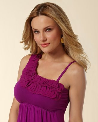 Soma Intimates One Shoulder Chiffon Applique Dress