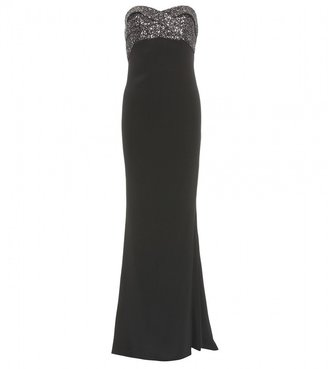Notte by Marchesa STRAPLESS SEQUIN TRIMMED GOWN