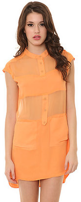 Funktional The Micro Panel Silk Dress in Apricot