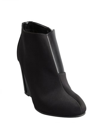 Charles by Charles David black leather and nylon 'Canzona' wedge ankle boots