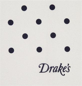 Drakes Drake's Polka-Dot Silk Pocket Square