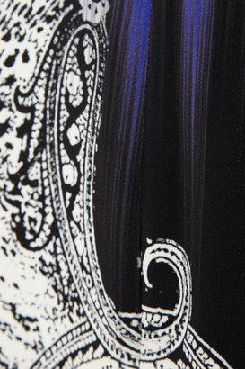 Etro Printed stretch-crepe pencil skirt