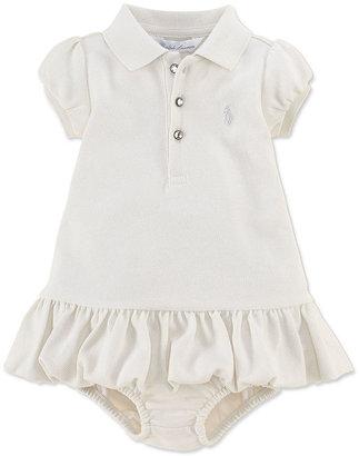 Ralph Lauren Girls Dress, Baby Girls Sparkle Polo Dress