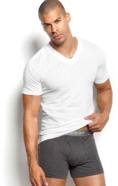 2xist Men's Essential 3 Pack Jersey V-Neck T-Shirt