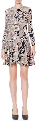 Just Cavalli Reptile & Varsavia-Print Fit & Flare Dress