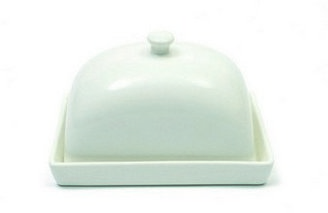 Maxwell & Williams 'White Basics' Rectangular Butter Dish 15cm (Gift Boxed)