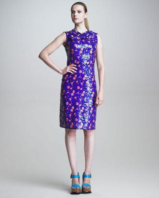 Marc Jacobs Sleeveless Sequined Sheath Dress