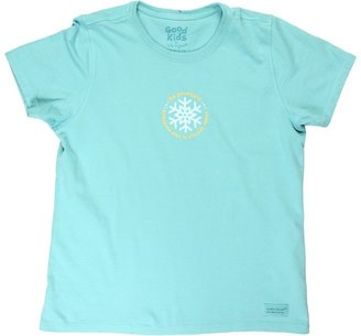 Life is Good Girls' Be Yourself Crusher Tee (Little Kids/Big Kids) (Teal) - Apparel
